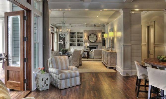 Open Floor Plan Design Cottage Dining Room Herlong Associates