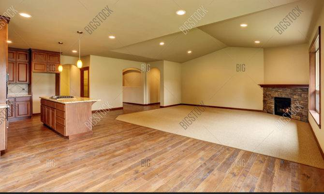 Open Floor Plan Empty Living Room Bigstock