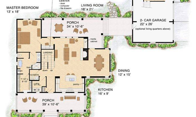 Open Floor Plan Farmhouse Familyhomeplans Details