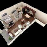 Open Floor Plan Give One Bedroom Bathroom Apartment