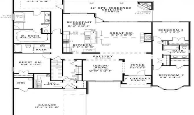 Open Floor Plan House Designs Plans Kitchen