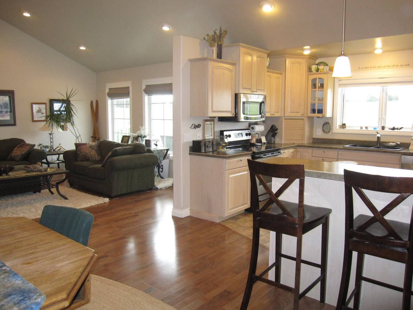 Open Floor Plan Kitchen Dining Living Room House Plans 5819