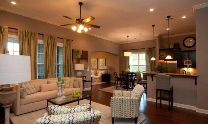 Open Floor Plan Kitchen Living Room Hearth Plans