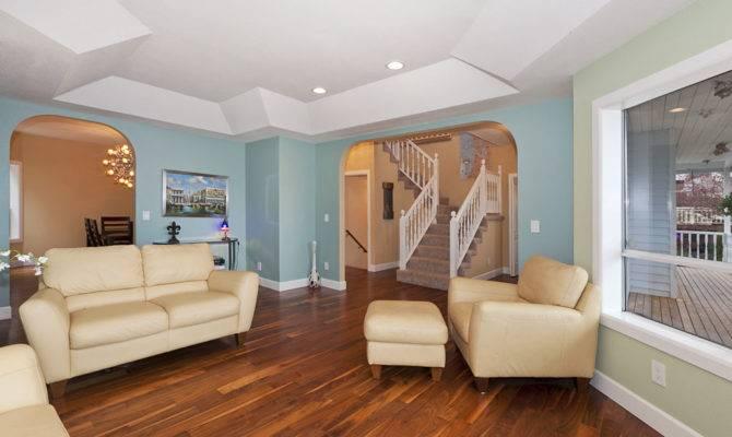 Open Floor Plan Living Room Dining Office Kitchen