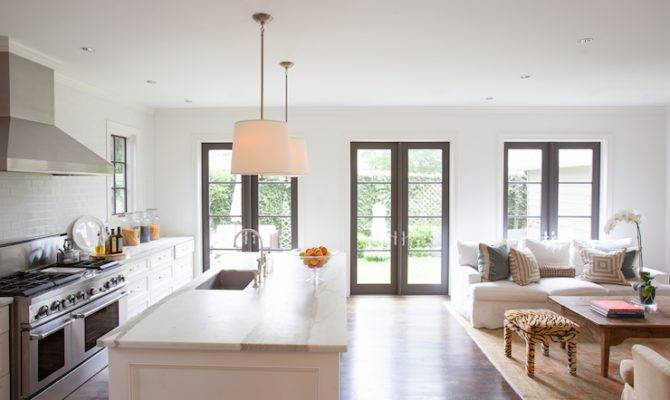 Open Floor Plan Living Transitional Kitchen Ashley