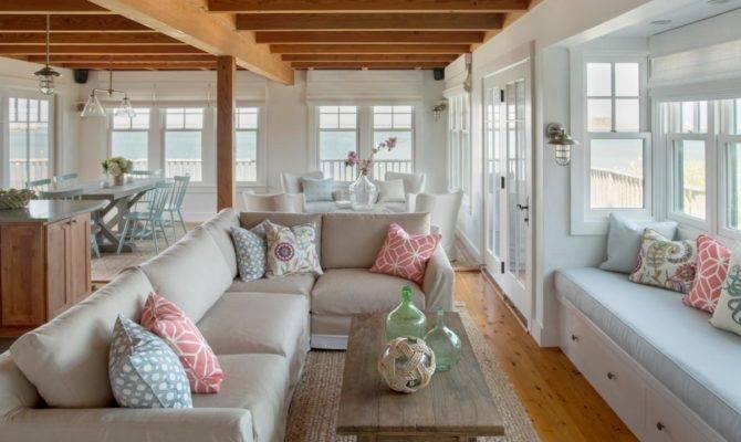 Open Floor Plan Waterfront Beach Cottage Boasts