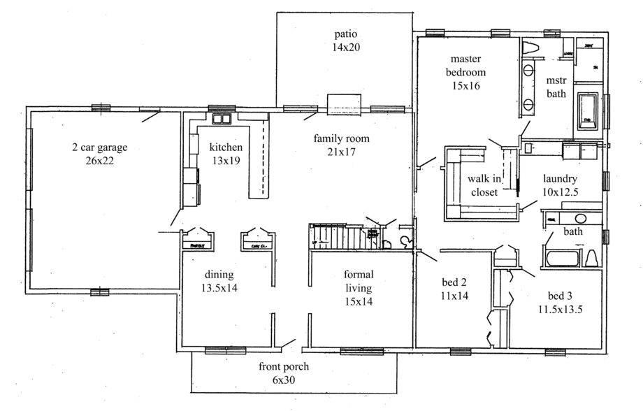 wiring house floor plan open floor plans bedroom ranch style homes wiring scott house  open floor plans bedroom ranch style