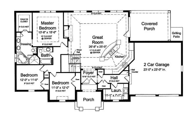 Open Floor Plans Plan Hwbdo French Country House