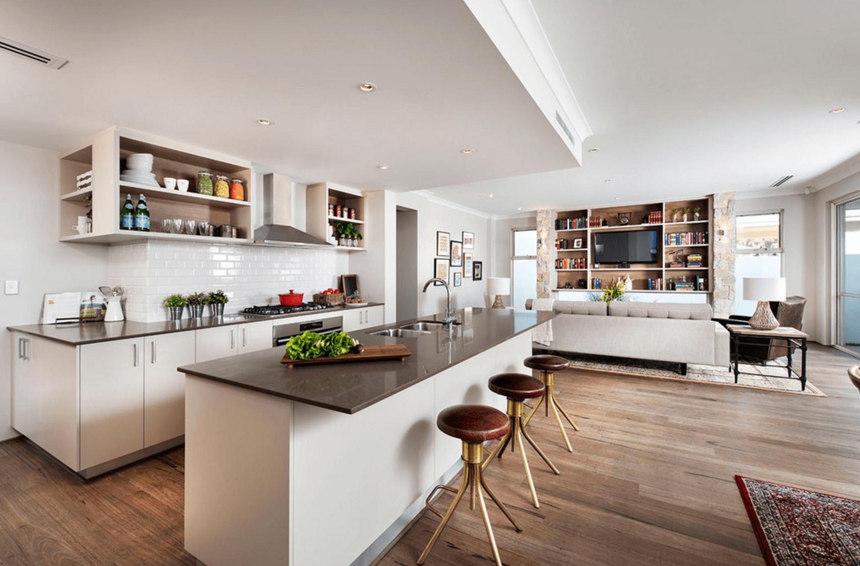 Open Floor Plans Trend Modern Living Interior Design House 60478