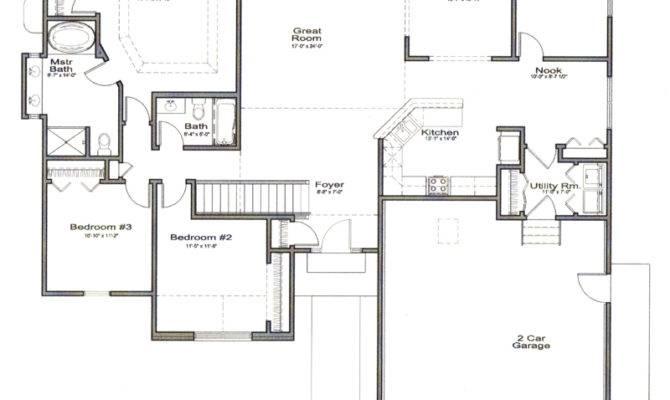 Open Floor Ranch Style House Plans Thefloors