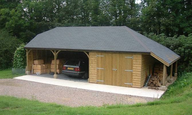 Open Garage Designs Two Carports