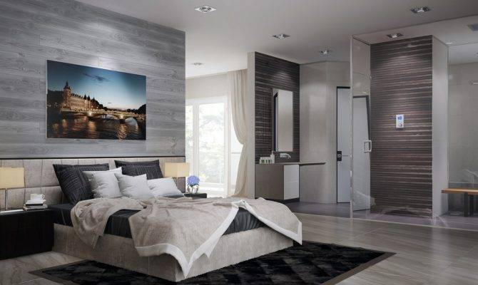 Open Plan Ensuite Bathroom Interior Design Ideas