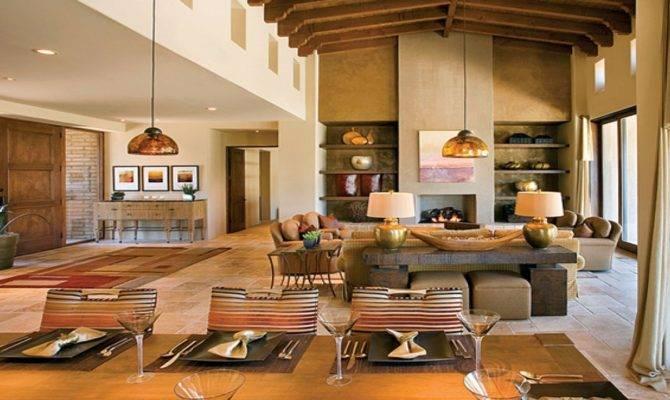 Open Plan House Living Room Floor Decorating
