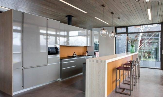 Open Plan Kitchen Bar Modern