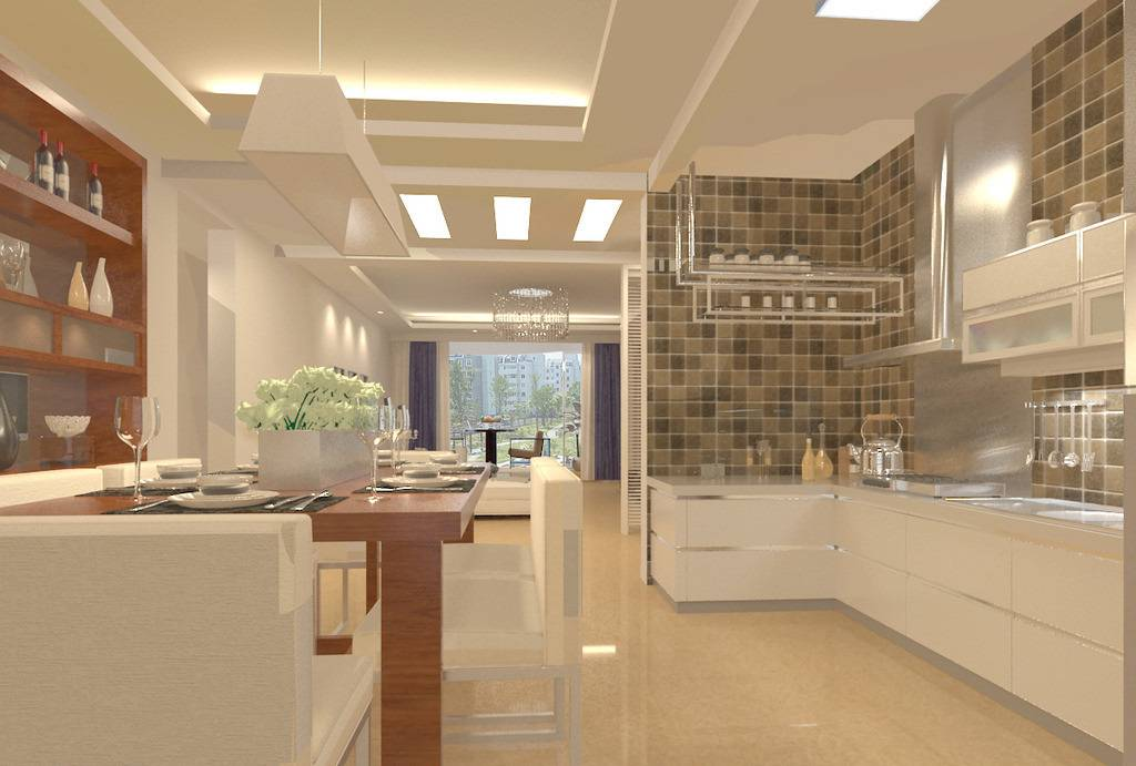 Open Plan Kitchen Living Room Small Space House Plans 160508