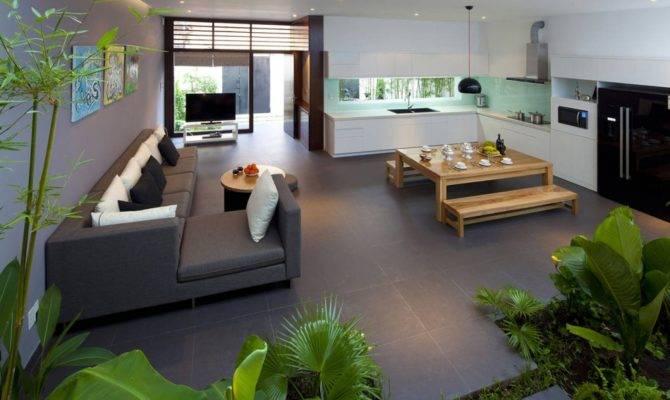Open Plan Living Room Kitchen Diner Interior Design Ideas