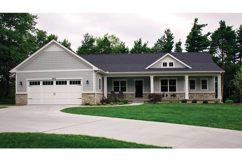 Open Plan Ranch Finished Walkout, Ranch Plans With Walkout Basement