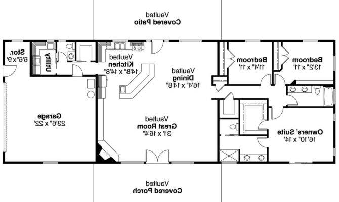 Open Ranch Style Home Floor Plan Also Bat House Design Plans