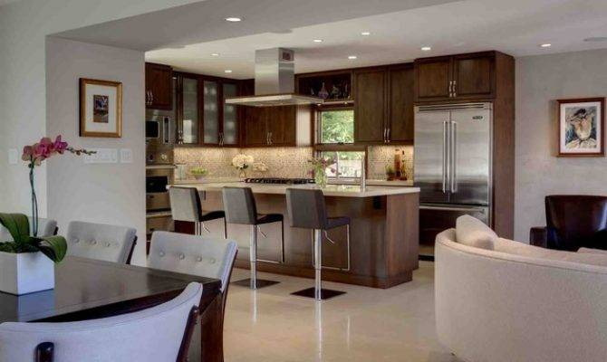 Open Space Kitchen Traditional Los Angeles