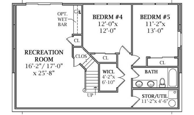 Optional Walk Out Basement Plan Lakeview House