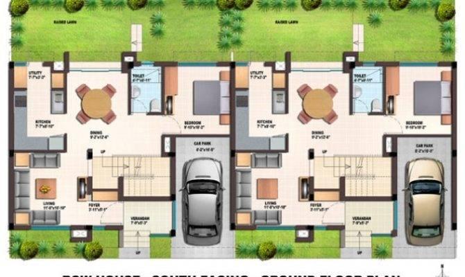 Orchids Kovai Row Houses Floor Plans Regard