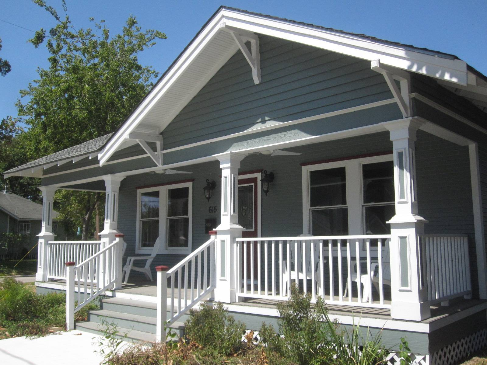 Other Houston Cozy Bungalow Porches - House Plans