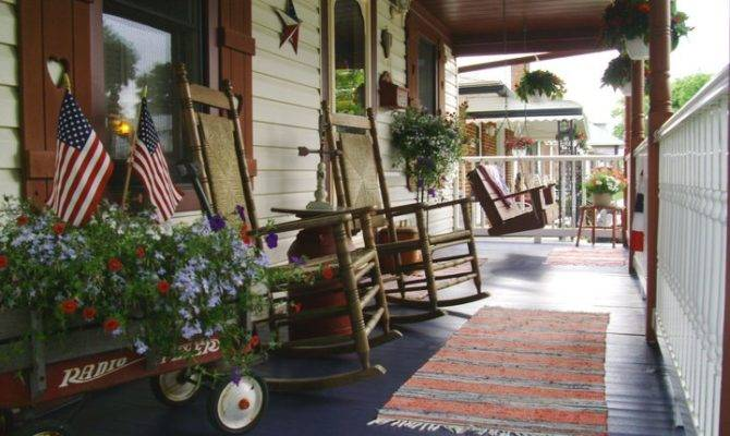 Our Americana Country Front Porch Home Sweet Pinte