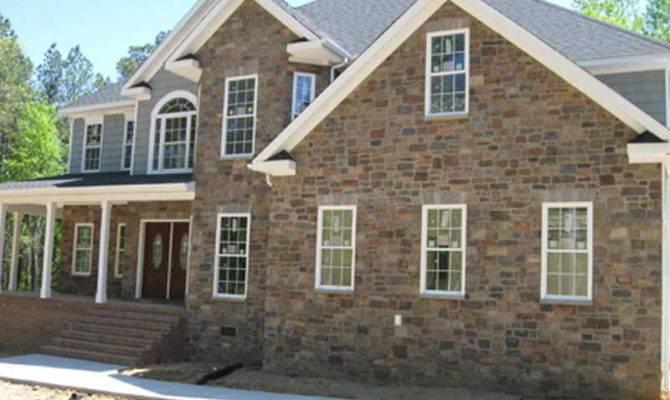 Outdoor Applying Stone Veneer Houses Exterior