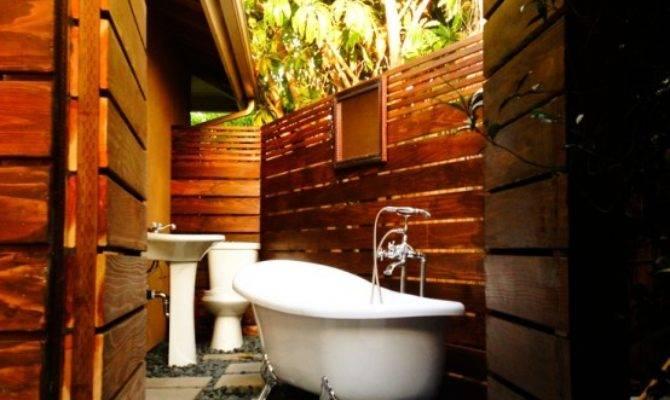 Outdoor Bathroom Designs Home Design Garden