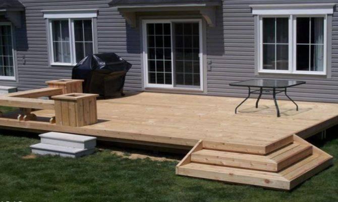 Outdoor Decks Patios Simple Deck Design