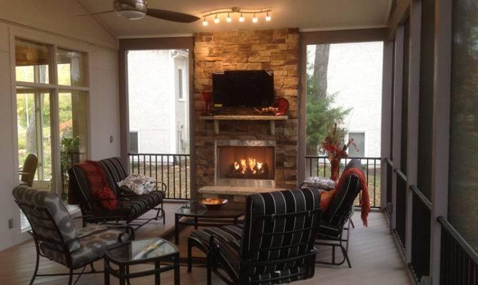 Outdoor Fireplace Archadeck Kansas City