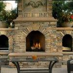 Outdoor Fireplace Backyard Designs Ideas