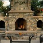 Outdoor Fireplace Backyard Designs Ideas