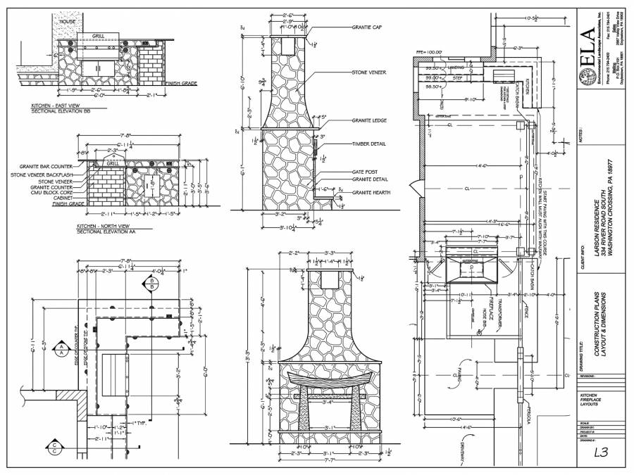 Outdoor Fireplace Construction Plans Bucks County House Plans 39961