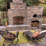 Outdoor Fireplace Pizza Oven Traditional Patio