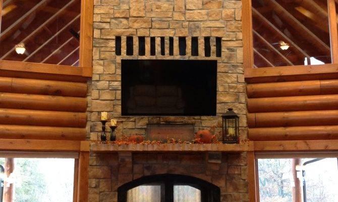 Outdoor Gas Fireplace Wood Indoor