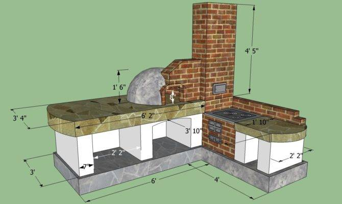 Outdoor Kitchen Building Plans
