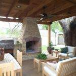 Outdoor Living Room Design White Wood Chair Fire