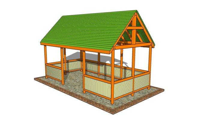 Outdoor Pavilion Plans Howtospecialist Build Step