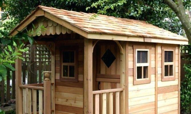 Outdoor Playhouse Kit Kids Slide Wooden