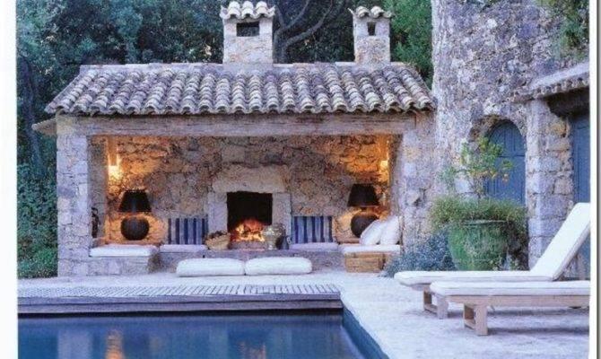 Outdoor Pool House Home Interior Design