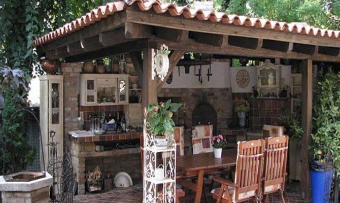 Outdoor Summer Kitchen Decor Design Ideas