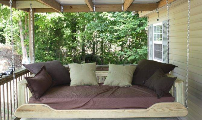 Outdoor Swing Bed Plans Decor Ideasdecor Ideas