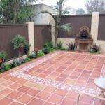Outdoor Tile Patio Creates Well Structured