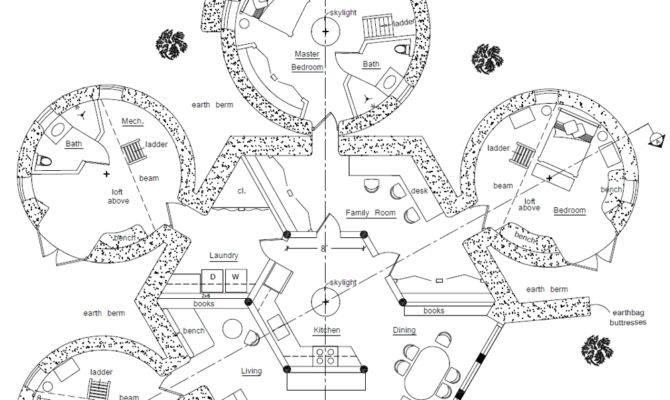 Over Earthbag House Plans