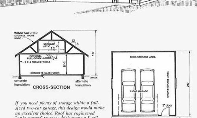 Over Sized Car Garage Attic Plan