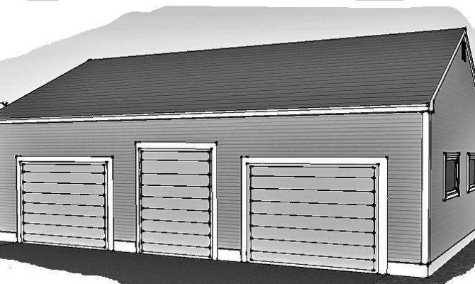 Over Sized Stall Garage Rear Access Doors Building Plans Ebay