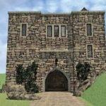 Own Mini Castle Eplans European House Plan Scottish Tower