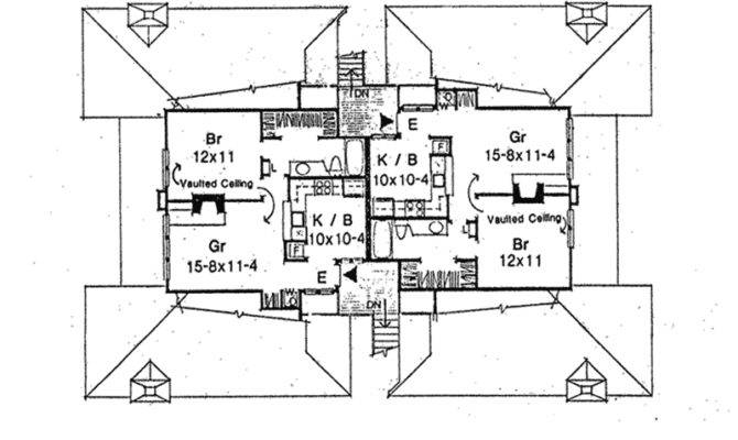 Pacific Park Rustic Fourplex Plan House Plans