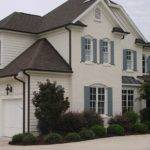 Painted Brick Siding Accent Gutters